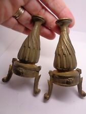 VINTAGE BRASS FINIAL FEET? BRASS EGYPTIAN? STYLE ARCHITECTURAL HARDWARE