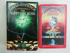 DAVID EDDINGS 2 HARDBACK BOOKS - THE SAPPHIRE ROSE & SEERESS OF KELL