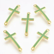925 Sterling Silver Sideways Cross-Smooth Silver Connectors-Big Size-23mm*19mm