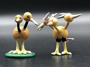 "Vintage Pokemon DODUO and DODRIO 1.5"" Figures Tomy CGTSJ Nintendo 1990s"