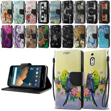 """For Nokia 2V / 2.1 5.5"""" ID Card Leather Flip Wallet Kickstand Cover Pouch Case"""