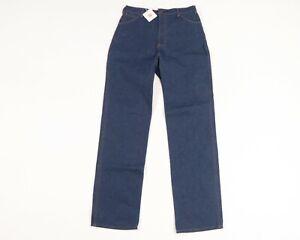 NOS Vintage 70s Rockabilly Mens 30x34 Straight Leg Raw Indigo Denim Jeans USA