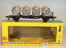 Fleischmann H0 1473F Behältertragwagen BTms 55 2-achsig der DB OVP #5476