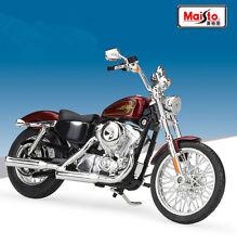Maisto 1:12 Harley Davidson 2012 XL 1200V SEVENTY TWO Motorcycle Wine New