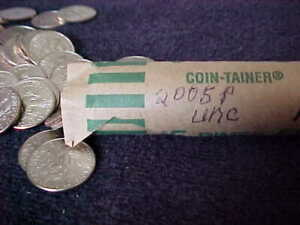 2005 P  DIME ROLL FROM MINT SETS