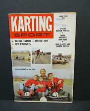 "Karting Sport Magazine, April,1960 ""Little Pages"" Jack Paar, Roger Ward Go Karts"