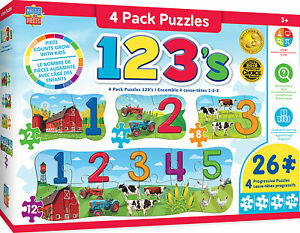 Masterpieces Puzzle Educational 4 Pack 123 on the Farm