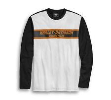 Harley-Davidson ® para hombre color del círculo de Calavera Manga Larga T-Shirt 96389-20VM XL