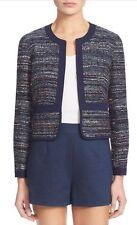 NWT $598 Diane von Furstenberg Alberta Multi Color Tweed Jacket Blazer 8