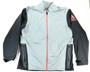 Adidas Men's Climaproof Golf Rain Jacket Black Gray Full Zip Size XL
