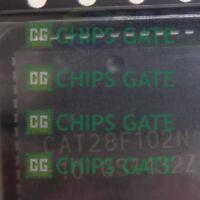 2PCS CAT28F102N-10 Encapsulation:PLCC,x16 Flash EEPROM