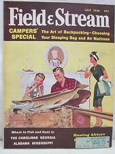 Field & Stream Magazine July 1960 Camper Special The Art Of Backpacking Campers