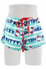 HELLO KITTY Ladies Shorts Casual PJs Tie Elastic Waist Cotton S M L XL NWT