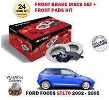 FOR FORD FOCUS ST 170 ST170 2.0i 2002-2005 FRONT BRAKE DISCS SET & DISC PAD KIT