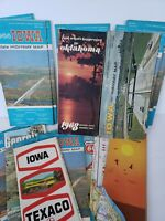 Lot of 15 Vintage Road Maps Iowa Georgia Citgo Phillips 66 Gas 1960s 1970s Craft