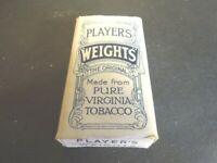 Cigarette  pack Players WEIGHTS with insert but no tobacco cigarettes vintage