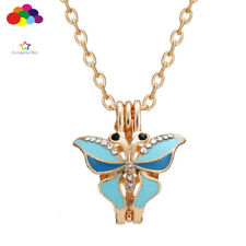 Newest Diffuser Butterfly Necklace Lockets Perfume Essential Oil Aromatherapy