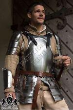 Black Mercenary Larp Armor Knight Collectible Medieval 18 Gauge Steel Sca Larp
