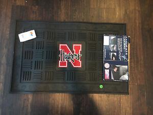 "Large Utility Rubber Matt Nebraska Cornhusker 30x19"" Fan Mats"