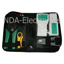 Network Ethernet LAN Tool Set Kit Cat5e Cat6 RJ45 Cable Tester Crimping Crimper