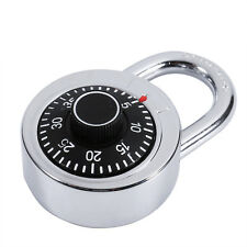 Zinc Alloy Rotary Padlock Digit Combination Code Lock Safe Round Fixed Dial jj