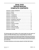 CASE IH DX48 DX55 COMPACT TRACTOR COMPLETE SERVICE MANUAL