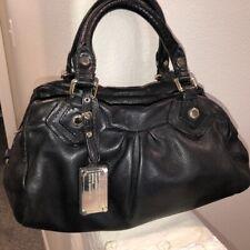 Marc by Marc Jacobs Classic Q Groovee Black Leather Satchel Handbag Tote Bag