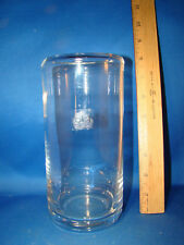 "Contemporary Modern Glass Cylinder Vase 8"" tall by SIA Collection Sticker @23"