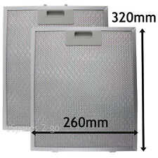 2 x Metal Mesh filter For COOKE & LEWIS Cooker Hood Vent Filters 320 x 260 mm