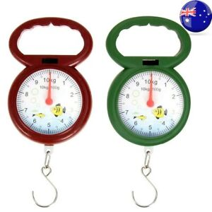 AU Portable 10kg Weighing Numeral Pointer Spring Balance Hanging Scale Measuring