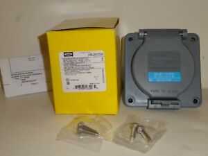 Hubbell Twist Lock 30A 120/208V 4 Pole HBL2810SW watertight wall or box mount