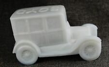 Ford Model T Circa 1925 inspired figurine in Milk Glass
