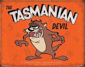 The Tasmanian Devil Metal Sign  420mm x 310mm  (sf)