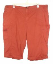 NWT Women's Sonoma Mid Rise Cargo Skimmers/Capris - Size 22W - Woodland Rust