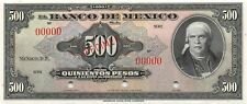 México  500  Pesos  ND.1936 - 1943  P 32s or P 43s   Uncirculated Banknote Mea11