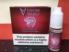 VENOM VAPES #2 RED ARCTIC. RED CHERRY HINT OF MENTHOL 3mg Nic, 3 x 10ml Bottle