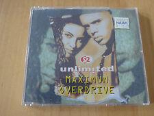2 Unlimited --- Maximum Overdrive --- UK CD Maxi