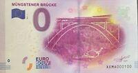BILLET 0  EURO MUNGSTENER BRUCKE 1  ALLEMAGNE  2017  NUMERO 100