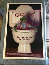 """GHOULIES 1985 ORIGINAL 1 SHEET MOVIE POSTER 27""""x41"""" (F/VF-) HORROR ACTION COMEDY"""