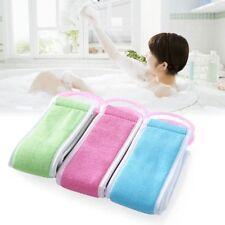 Back Brush Belt Bath Exfoliating Towel Scrub Sponges Body Rubbing Long Washcloth