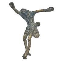 RARE Spanish Jesus Christ Medieval Artifact - Crucifix Icon Rare Antiquity Old
