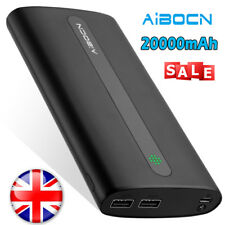 Aibocn 20000mAh Power Bank Fast High Capacity Dual Outputs External Battery Pack