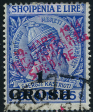 Albanien Shkodra 1915 Überdruckmarke, MiNr 4 gestempelt, used