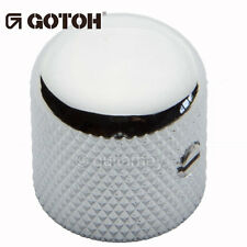 NEW (1) Gotoh VK1-18 - Control Knob - DOME - Bass, Guitar - METAL - CHROME