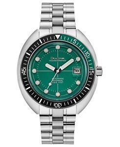 USED Bulova Men's Automatic Devil Diver Stainless Steel Bracelet Watch
