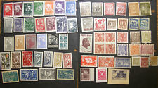 Poland extensive collection of WWII POW Woldenberg Camp stamps,Porto  MZ