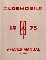 1975 Oldsmobile Shop Service Repair Manual Book Engine Drivetrain Electrical