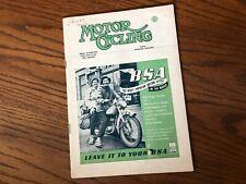 Vintage MOTOR CYCLING Magazine Matchless BSA Vincent Ariel Triumph Norton carb