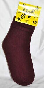 Slouch Socks Women's Scrunch Hooters Socks Burgundy Size 6-8 NWT Made In USA!!
