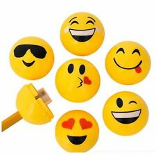 Pencil Sharpeners - (24 per order) Emoji Design - School Supplies, Happy Hearts.